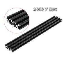 1PC BLACK 2020 European Standard Anodized Aluminum Profile Extrusion 400mm Length Linear Rail for CNC 3D Printer D31 cnc 3d printer parts european standard anodized linear rail aluminum profile extrusion 2020 for diy 3d printer workbench