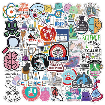 50pcs Science Sticker Funny Physical Element Education Waterproof Decals DIY Laptop Desk Luggage Bicycle Graffiti Stickers 1