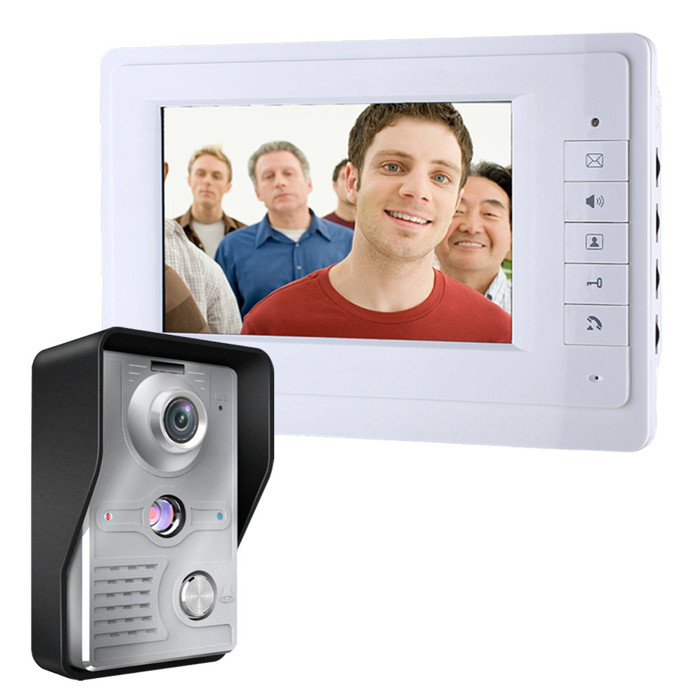 7 Inch TFT LCD Wired Door Home Intercom Video Doorbell System Doorphone IR COMS Night Vision Outdoor Camera 700TVL Color Monitor