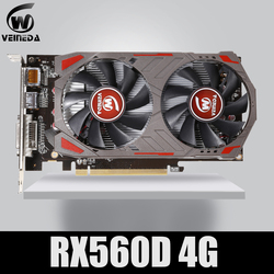 Veinida Video Kartu Radeon RX 560D GPU 4GB GDDR5 128 Bit Game Komputer Desktop Video Kartu Grafis PCI Express3.0 untuk AMD Kartu