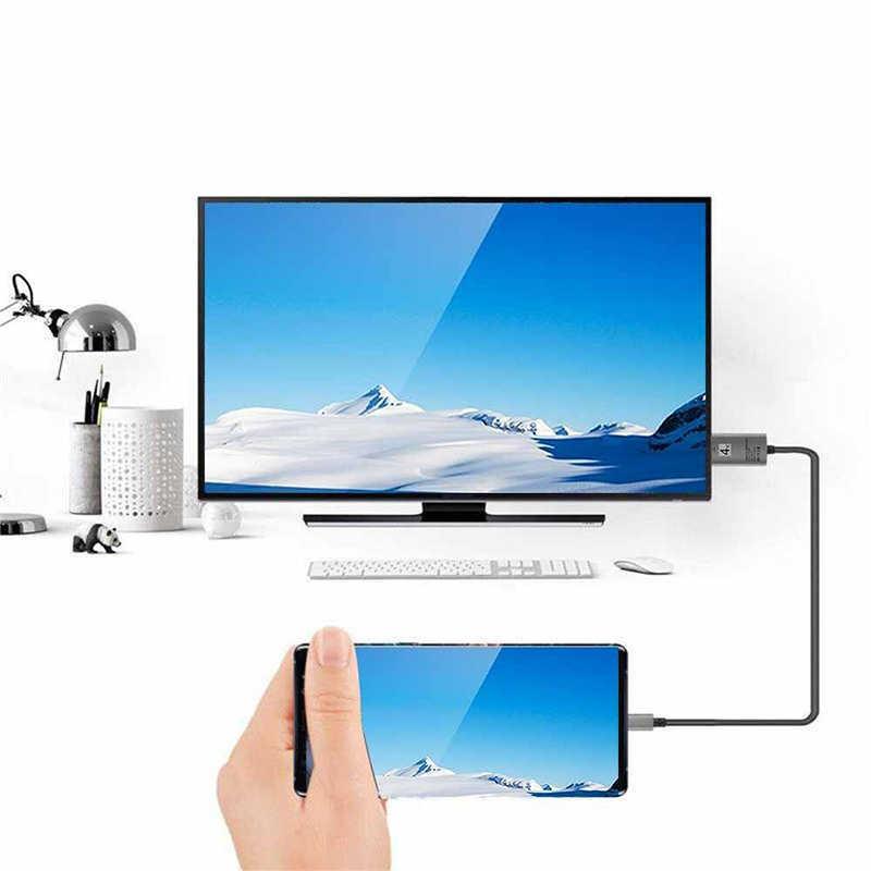 USB 3.1 タイプ C に HDMI ケーブルアダプタコンバータ超 HD 1080P 4 18k 充電 HDTV ビデオケーブルサムスンギャラクシー S9/S8/注 9