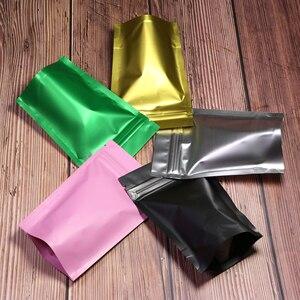 Image 3 - Plastic Bag  Metallic Mylar ziplock bag  stand valve bag resealable aluminum foil custom print ziplock bag