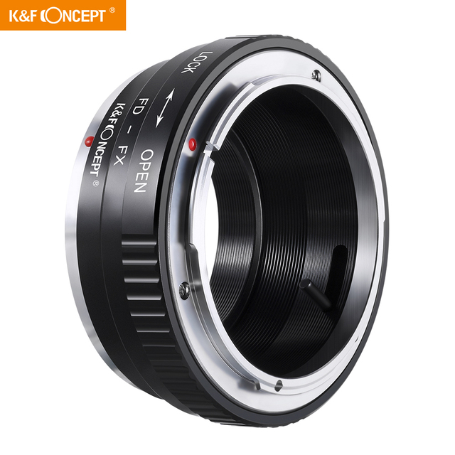 K&F Concept FD FX Lens Adapter Ring for Canon FD Mount Lens to Fujifilm FX Mount X Pro1 X E1 X A1 X M1 Cameras Body