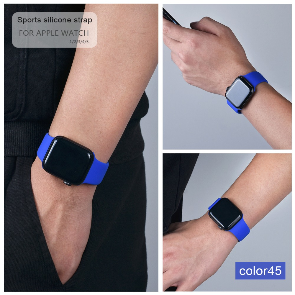 Soft Silicone Band for Apple Watch 118