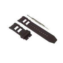 26mm Black Rubber Watch Band Replacement Strap Fits For Invicta Russian Diver + Free Spring Bar Tool