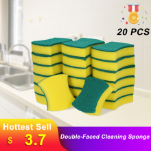 20 шт многоцелевые губки для чистки кухонных гаражных двухслойных кухонных полотенец для мытья посуды щетка для чистки пятен