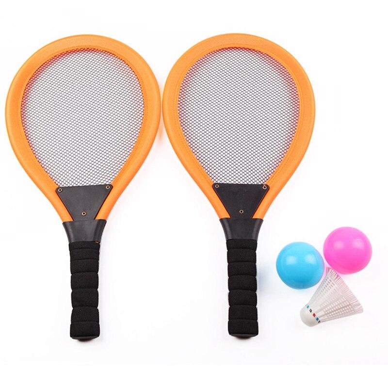 Nouvelle vente 2 en 1 enfants jouent jardin Parent-enfant jeu plage éducatif Badminton Tennis raquette jouet ensemble Photo accessoire Sports de plein air