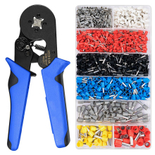 Terminal Crimping Pliers Wire Stripper Crimper Ferrule Crimping Hand Tool Pliers Wire Ferrule Crimping Tool with 1200 Terminals professional multi tool cable wire crimper crimping pliers ferrule crimpers 800pcs end crimp terminal electrical wire connector