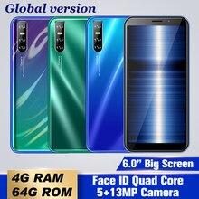 9s 4gb ram 64gb rom smartphones 6.0 quad quad quad core 5mp + 13mp face id desbloqueado telefones celulares globais android barato celulares 3g wifi