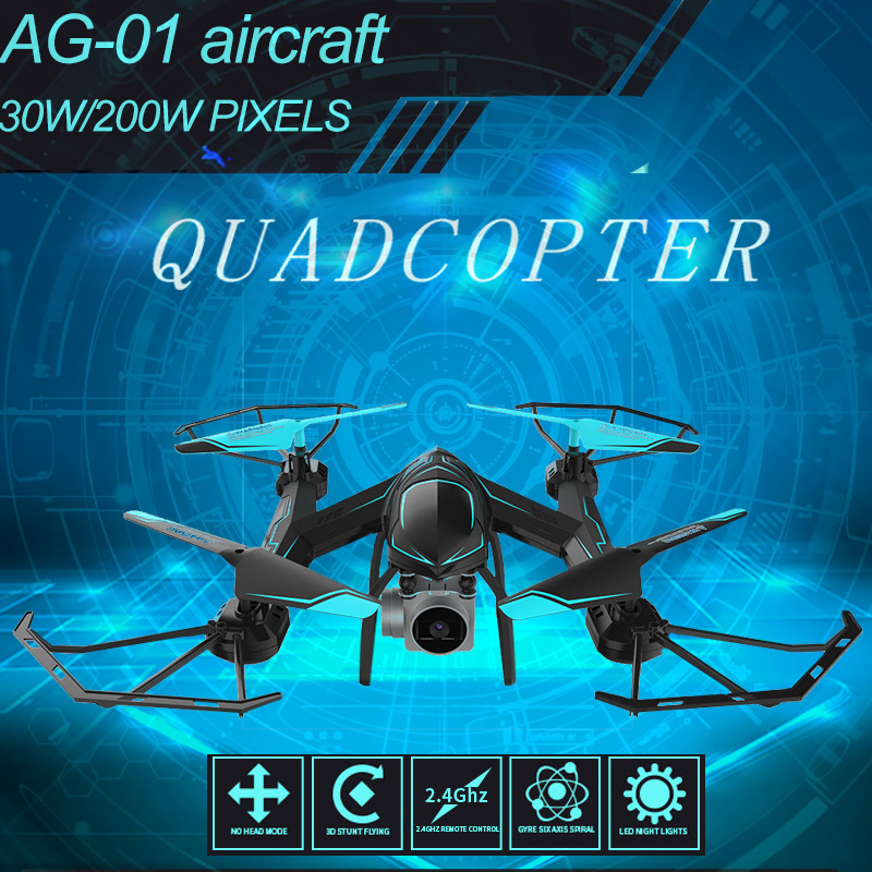 2019 New AG-01 Drone With Camera HD Technology Remote Control Quadcopter With 2.4G Helicopter 4 Channels RC Toy Blue&Red