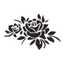 Автомобиля стикер мода Роуз светоотражающие наклейки украшения автомобиля наклейки творческий применяется для различных моделей черный/белый, 23см*16см