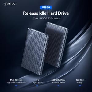 ORICO SATA USB 3,0 адаптер внешний жесткий диск чехол Корпус ssd, hdd 5 Гбит/с, не требует применения инструментов для 9,5 мм 7 мм 2,5