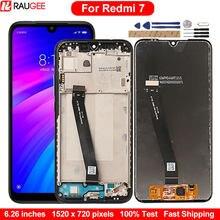 AAA + ekran Xiaomi Redmi için 7 LCD Digitizer dokunmatik ekran için yedek ekran Redmi 7 ekran çerçeve meclisi ile 6.26 inç