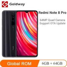 Xiaomi Redmi Note 8 Pro с глобальной прошивкой, 6 ГБ ОЗУ, 64 Гб ПЗУ, 64 мп, четыре камеры заднего вида, мобильный телефон Helio G90T, четыре ядра, 4500 мАч, NFC