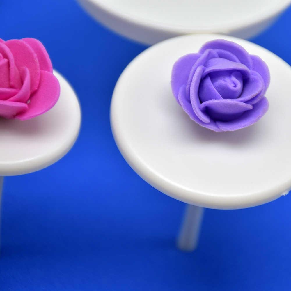4 Uds. Soportes de tuberías para hornear herramientas aguja para manualidades palito helado herramientas de decoración de pasteles flores de uñas bandeja de toro Rosa flor