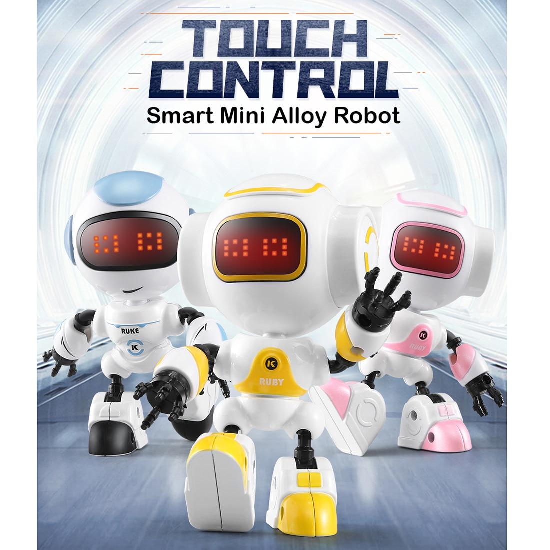 Modiker Children High Tech Intelligent RC Programming Touch Induction MINI Robot With LED Light DIY Posing - Orange