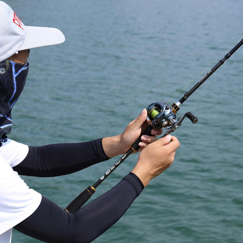 Sougayilang 1.8m 2.1m 2.4 hastes de pesca de fundição com 24 ton fibra carbono mais recente serpentina carretel assento ultra leve pesca pólo
