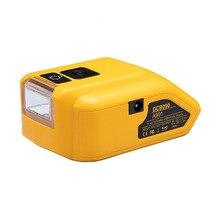 Адаптер Светодиодный светильник Рабочая лампа USB мобильный телефон зарядное устройство DC 12V Выход для Dewalt 14,4 V 18V литий-ионный аккумулятор ...
