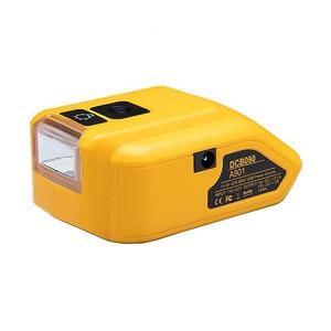 Adapter LED Light Working Lamp USB Mobile Phone Charger DC 12V Output For Dewalt 14.4V 18V Li-ion Battery DCB140 DCB183 DCB203