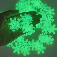 50pcs 3D Snowflake Luminous Wall Sticker Fluorescent Glow In The Dark Wall Decal For Homw Kids Room Bedroom Christmas Decor cheap YONGSNOW CN(Origin) 3D Sticker Modern For Refrigerator For Cabinet Stove For Wall Furniture Stickers Floor Stickers Window Stickers