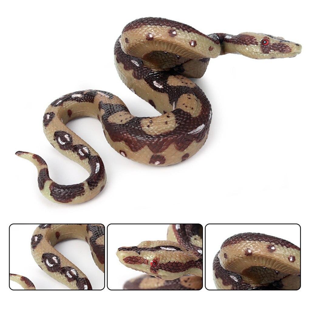 Halloween Prank Prop For Decor High Simulation Rubber Snake Toy Kids Gag Toys Anaconda Prank Jokes Animals Model Python Snakes