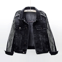Rivet Denim Jacket Women Spring Autumn Vintage Harajuku Student Short O