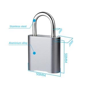 Image 5 - Smart Fingerprint Bluetooth Rechargeable Keyless Padlock Unlock Waterproof Home Security APP Shared Door Lock for IOS Android