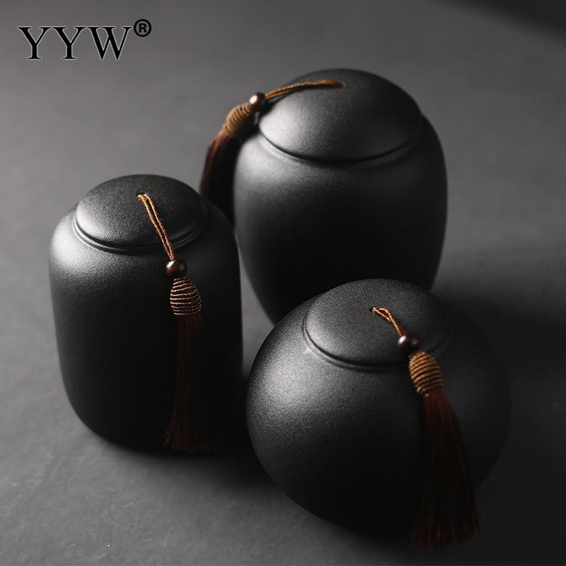 Black Cremation Urns For Pet Human Ashes Ceramic Urn Small Keepsake Funeral Casket Pet Memoria Urne Keepsake Urns For Ashes