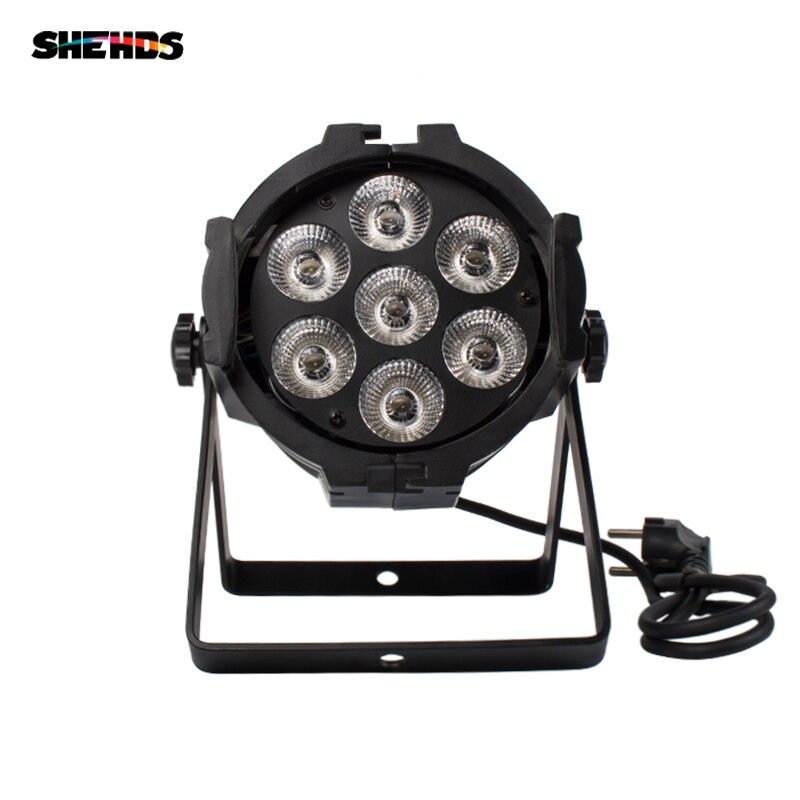 1 pièces LED Par peut 7x12W alliage d'aluminium LED Par RGBW 4in1 DMX512 lavage dj scène lumière disco fête lumière Dj éclairage