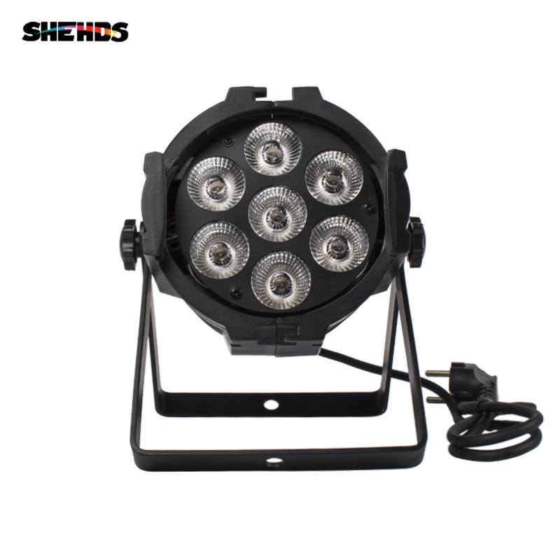 LED Par Can 7x12W Aluminum alloy RGBW 4in1 DMX512 Wash dj stage light disco party Dj Lighting