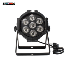 LED Par Can 7x12W Aluminum alloy LED Par RGBW 4in1 DMX512 Wash dj stage light disco party light Dj Lighting  стоимость