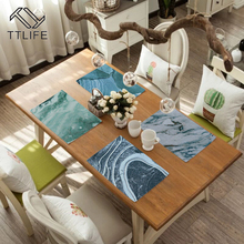 TTLIFE Kitchen Cup Coasters Placemats For Dining Table Linen Non-slip Pats Home Accessories Decorative Cloth  Place Mat