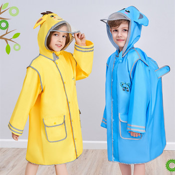 90-145CM waterproof raincoat for children kids baby rain coat poncho boys girls primary school students rain poncho jacket цена 2017