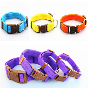 Dog collar Nylon 7 colors are optional neck strap Adiustable 4 sizes for small and medium dogs puppies.Also pet cats,kitten pet(China)
