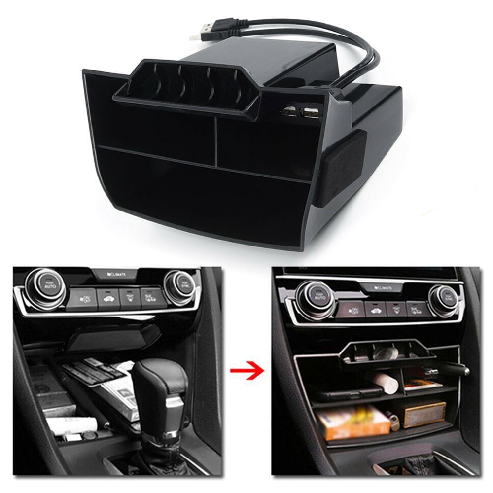 Carbon Fiber Style Interior Glove Box Switch Trim For Honda CIVIC 2016-2017 2018
