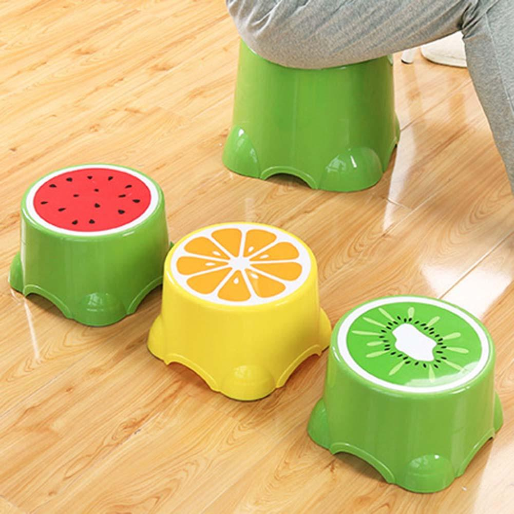 Durable Plastic Foot Stool For Kids Cartoon Fruit Pattern Anti-Slip Foot Stools Baby Children Toilet Bathroom Footstool