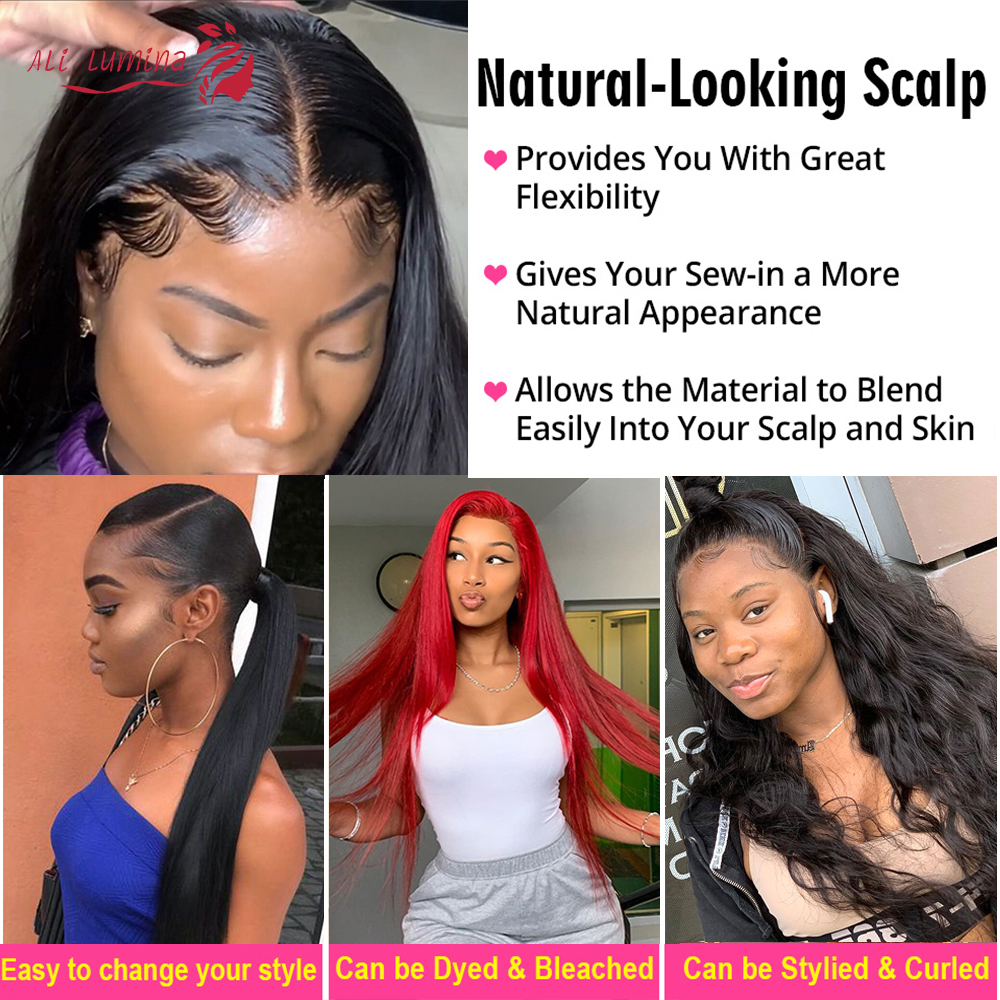 Straight  Wigs 13x4 4x4 Lace Front Wig Pre Plucked With Baby Hair 180% Density   Hair Lace Closure Wig 3