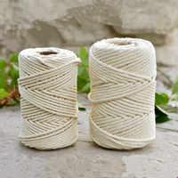 1mm/3mm/4mm/6mm/8mm10mm Naturale Fatto A Mano di Cotone Cavo di Filo Macrame Crochet corda FAI DA TE Appeso Arazzo Tessitura Lane e Filati di Lavoro A Maglia Corda