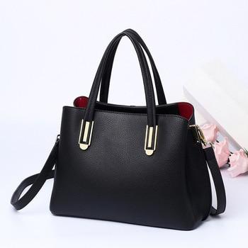 WOMEN'S Leather Bags Bag 2020 New Style Shoulder Bag Fashion Women's Handbag Full-grain Leather Middle-aged Mommy Bag