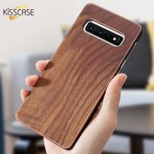 KISSCASE funda de madera Real para Samsung Galaxy S10 S9 S8 Plus funda de bambú Natural para Samsung Galaxy S7 Edge S8 s10 más S10 e Cubierta