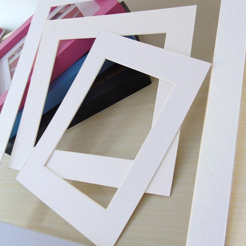 Белый фото коврики прямоугольник Бумага крепления для 6/7/8/10/16 дюймов A4 A3 картину фоторамки Декор фото коврик Бумага фоторамка