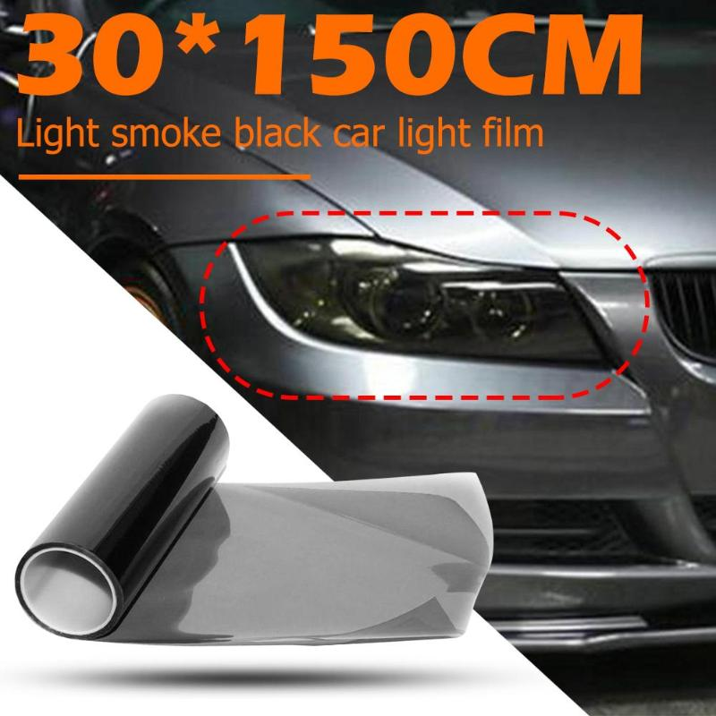Black Color Smoke Headlight Taillight Fog Light Tint Film Vinyl Wrap Cover