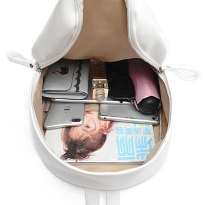 Image 5 - Toposhine 여성용 대용량 배낭 빈티지 소녀 학교 가방 숙녀 여행 화이트 핑크 어깨 가방 여성 배낭