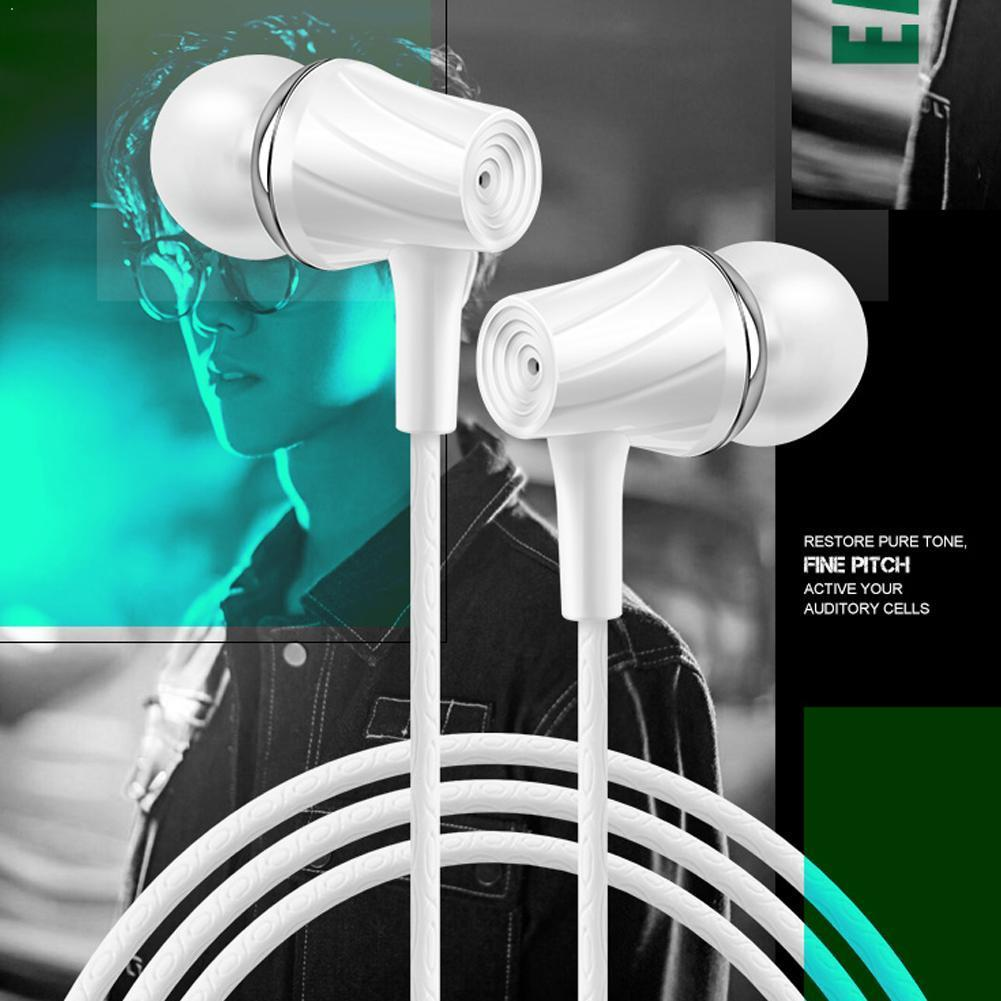 Wired Earphones With Microphone Music Gaming In-ear Waterproof Black Mp3 Earbuds Music White Volume Control Sport Headset N3N4