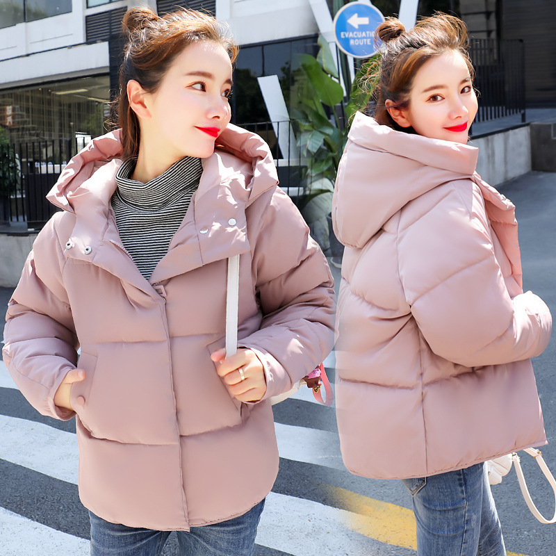 Winter   Down   Cotton Woman Short Fund Chic Bread Serve Student Cotton-padded Jacket Loose   Coat   Tide clothing