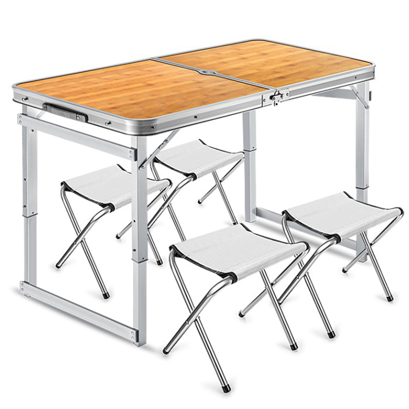 Folding table stall Portable outdoor table folding home simple  dining table chair portable push small table Aluminum Table