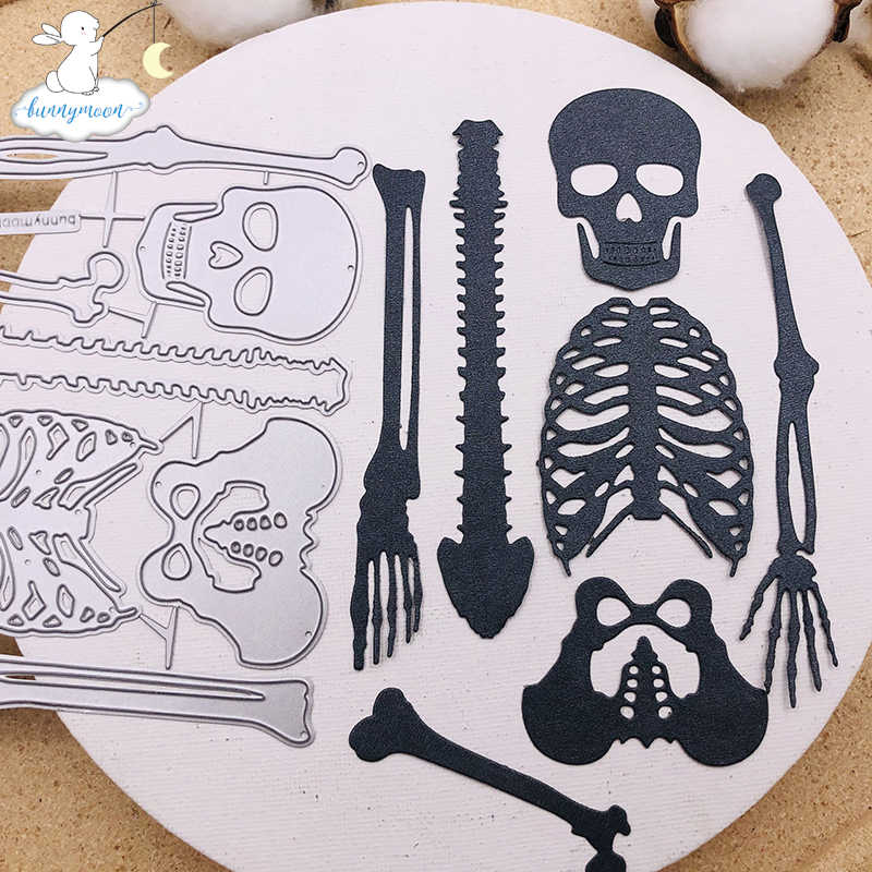 Halloween 2020 Album Bunnymoon Halloween skeleton 2020 Metal Cutting Dies Stencils For