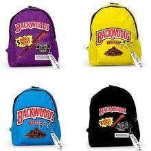 Backwoods charutos 3d impresso mochilas adolescente estudantes sacos de escola unisex viagem à prova doxford água oxford chave acessório mochila sacos