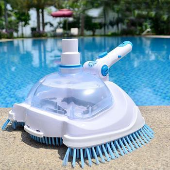 Swimming Pool Suction Vacuum Head Brush Cleaner Pool Flexible Manual Cleaner Pool Vacuum Head Cleaning Brush Pool Cleaning