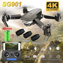 SG901 Camera Drone 4K HD Dual Camera Drones Follow Me Quadcopter FPV Profissional Professionele GPS Lange Levensduur Batterij dron(China)